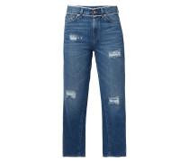 Cropped 5-Pocket-Jeans im Destroyed Look