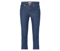 One Washed Slim Fit Cropped Jeans