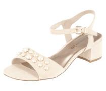 Sandalette mit Zierperlenbesatz