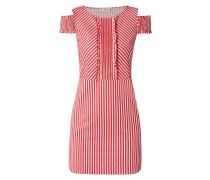 Cold-Shoulder-Kleid mit Streifenmuster