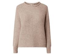 Pullover mit Woll-Anteil und Rundhalsausschnitt