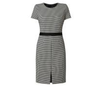 Kleid mit Pepita-Dessin