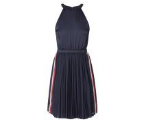 Kleid mit gerippten Kontraststreifen