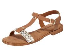 Sandalen aus Leder mit T-Riemen