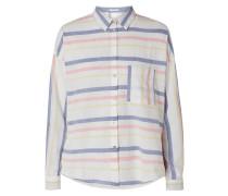 Bluse aus Organic Cotton mit Streifenmuster