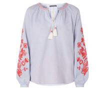 Blusenshirt mit floralen Stickereien
