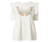 PLUS SIZE – Blusenshirt mit floraler Stickerei