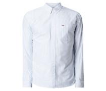 Modern Fit Freizeithemd aus Oxford mit Button-Down-Kragen