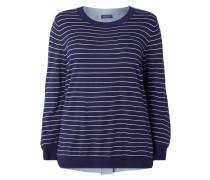 PLUS SIZE - Pullover mit Kontrastrückseite