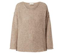 Oversized Pullover mit Merinowoll-Anteil