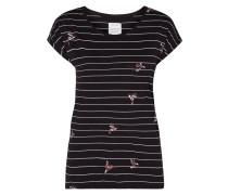 Shirt mit Streifenmuster und Motiven