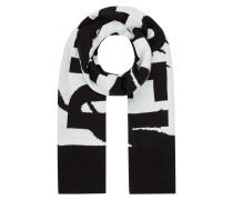 Schal mit eingewebtem Logo