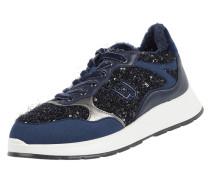 Sneaker aus Textil mit Pailletten-Applikationen