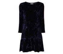 Kleid aus Samt mit Kontraststreifen