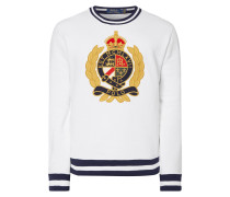 Sweatshirt mit Wappen-Stickerei