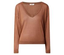 Pullover mit Effektgarn Modell 'Paloma'