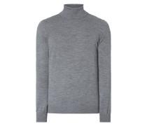 Rollkragen-Pullover aus Schurwolle
