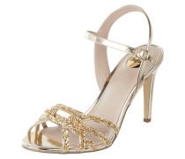 Sandalette in Gold-Optik