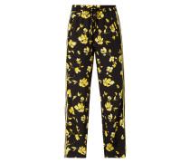 Trackpants mit floralem Muster