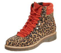 Lederboots mit Leopardenmuster