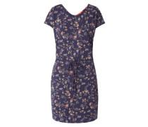 Kleid mit floralem Muster und Flechtgürtel