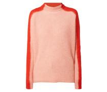 Oversized Pullover mit Stehkragen