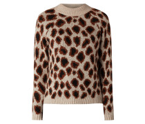 Pullover mit Leopardenmuster