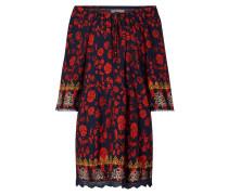 Off Shoulder Kleid mit floralem Muster