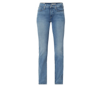 Stone Washed Shaping Slim Fit Jeans