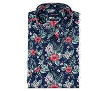 Modern Fit Cityhemd mit floralem Muster