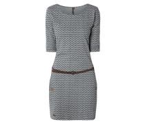 Jerseykleid mit Zickzack-Muster