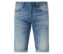 Tapered Fit Jeansshorts aus Baumwolle