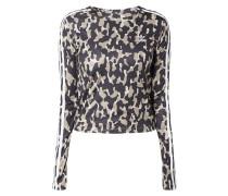 Crop-Shirt mit Leopardenmuster
