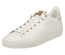 Sneaker aus Leder mit Swarovski-Kristallen