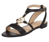 Sandalen aus Leder mit Logo-Applikation