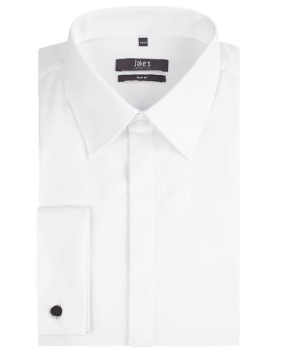 Slim Fit Smoking-Hemd mit Kentkragen