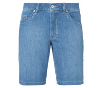 Straight Fit Jeansbermudas aus Light Denim