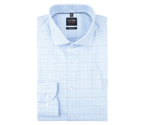 Body Fit Business-Hemd mit Gitterkaro