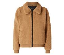 Oversized Jacke aus Teddyfell
