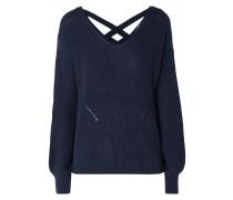 Pullover mit gekreuzten Riemen