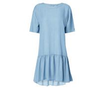 Kleid in Denimoptik mit überschnittenen Schultern