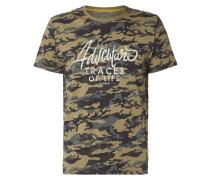 T-Shirt mit Allover-Muster und Print