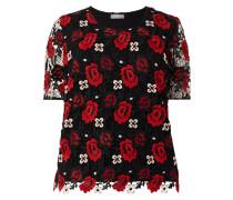 PLUS SIZE - T-Shirt aus floraler Häkelspitze