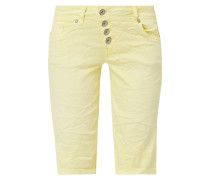 Coloured Jeansbermudas mit Knopfleiste