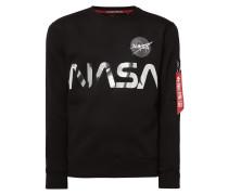 Sweatshirt mit glänzendem NASA-Print