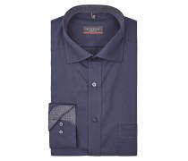 Modern Fit Business-Hemd aus Popeline mit Brusttasche