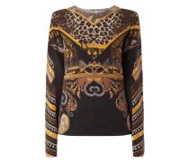 Pullover mit Woll-Anteil und Allover-Muster