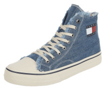 High Top Sneaker in Denim-Optik