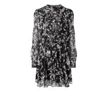 Kleid aus Krepp mit Rüschenbesatz