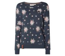 Sweatshirt 'ICH MACH DAS SELBER' mit floralem Muster
